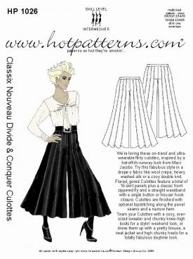 how to sew gaucho pants - Pi Pants