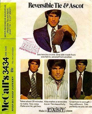 I'm a tie! An ascot! A tie! An ascot!