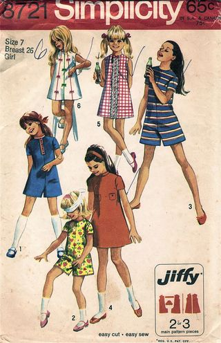 Simplicity 8721, circa late 1960s